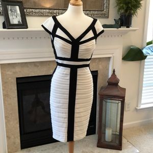 Gorgeous Jax Black and White Dress